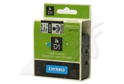 Dymo D1 45800, S0720820, 19mm x 7m, fekete nyomtatás / átlátszó alapon, eredeti szalag