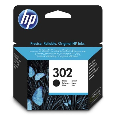 HP 302 F6U66AE fekete (black) eredeti tintapatron