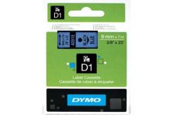 Dymo D1 40916, S0720710, 9mm x 7m fekete nyomtatás / kék alapon, eredeti szalag