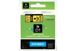 Dymo D1 45808, S0720880, 19mm x 7m, fekete nyomtatás / sárga alapon, eredeti szalag