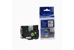 Brother TZ-S251/TZe-S251 24mm x 8m erősen ragadó, fekete nyomtatás / fehér alapon, kompatibilis szalag