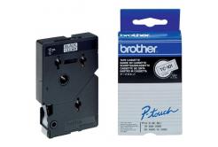 Brother TC-101, 12mm x 7,7m, fekete nyomtatás / átlátszó alapon, eredeti szalag