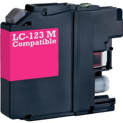 Brother LC-123 bíborvörös (magenta) kompatibilis tintapatron