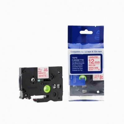 Brother TZ-232 / TZe-232, 12mm x 8m, piros nyomtatás / fehér alapon, kompatibilis szalag