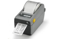 Zebra ZD410 ZD41022-D0EW02EZ címkenyomtató, 8 dots/mm (203 dpi), MS, RTC, EPLII, ZPLII, USB, BT (BLE, 4.1), Wi-Fi, dark grey