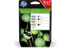 HP eredeti tintapatron multipack 3HZ51AE, HP 953XL, CMYK, 1600CMY-2000K oldal, HP