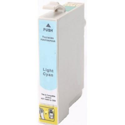 Epson T0485 világos cián (light cyan) kompatibilis tintapatron