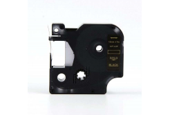 Dymo 45814, 19mm x 7m arany nyomtatás / fekete alapon, kompatibilis szalag