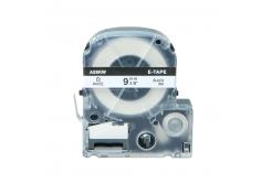 Epson LC-SS9KW, 9mm x 8m, fekete nyomtatás / fehér alapon, kompatibilis szalag
