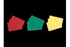 Evolis C4301 100db CR80 PVC kártya, piros
