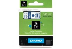 Dymo D1 45014, S0720540, 12mm x 7m kék nyomtatás / fehér alapon, eredeti szalag