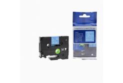 Brother TZ-525 / TZe-525, 9mm x 8m, fehér nyomtatás / kék alapon, kompatibilis szalag