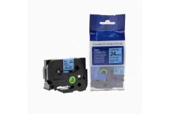 Brother TZ-551 / TZe-551, 24mm x 8m, fekete nyomtatás / kék alapon, kompatibilis szalag