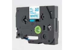 Brother TZ-FX233 / TZe-FX233, 12mm x 8m, flexi, kék nyomtatás / fehér alapon, kompatibilis szalag