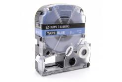 Epson LC-SD9BW, 9mm x 8m, fehér nyomtatás / kék alapon, utángyártott szalag