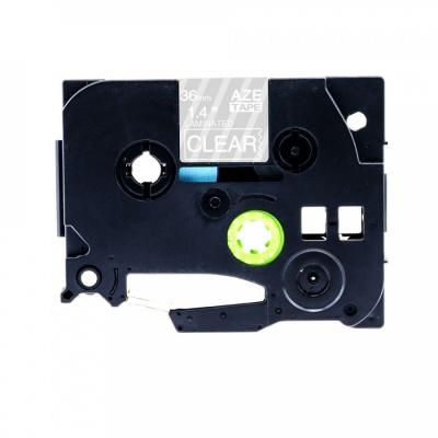Brother TZ-165 / TZe-165, 36mm x 8m, fehér nyomtatás / átlátszó alapon, kompatibilis szalag