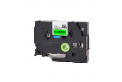 Brother TZ-D31/TZe-D31, rikítós 12mm x 8m, fekete nyomtatás/zöld alapon, kompatibilis szalag