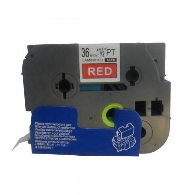 Brother TZ-465 / TZe-465, 36mm x 8m, fehér nyomtatás / piros alapon, kompatibilis szalag