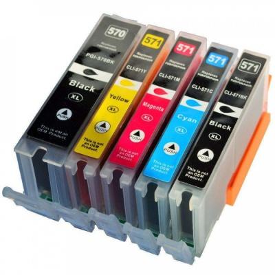 Canon CLI-571 Bk, C,M,Y + PGI-570Bk multipack kompatibilis tintapatron