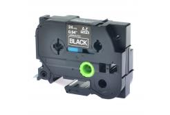 Brother TZ-S355/TZe-S355 24mm x 8m extr.adh. fehér nyomtatás/fekete alapon, kompatibilis szalag