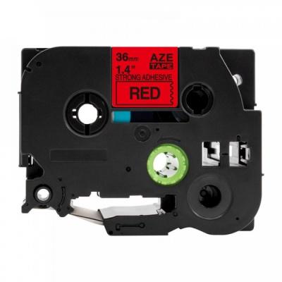 Brother TZ-S461 / TZe-S461, 36mm x 8m, extr.adh. fekete nyomtatás / piros alapon, kompatibilis szalag