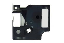 Dymo 18443, 9mm x 5, 5m fekete nyomtatás / fehér alapon, vinyl, kompatibilis szalag
