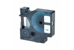 Dymo 43611, 6mm x 7m, kék nyomtatás / átlátszó alapon, kompatibilis szalag