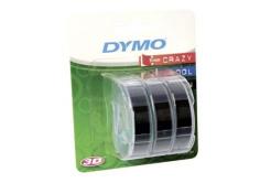 Dymo S0847730, 9mm x 3m fehér nyomtatás / fekete alapon, 3db, eredeti szalag