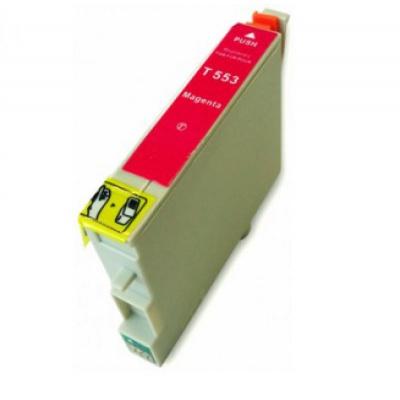Epson T0553 bíborvörös (magenta) kompatibilis tintapatron