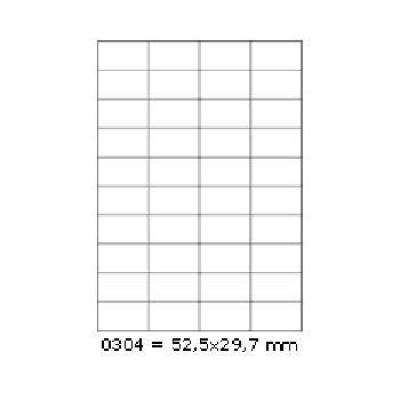 Öntapadós címkék 52,5 x 29,7 mm, 40 db / A4, 100 lap