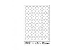 Öntapadós címkék 25 x 25 mm, 70 db / A4, 100 lap