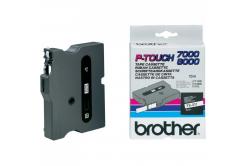 Brother TX-211, 6mm x 15m, fekete nyomtatás / fehér alapon, eredeti szalag