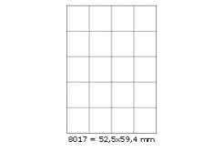 Öntapadós címkék 52,5 x 59,4 mm, 20 db / A4, A4, 100 lap