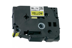 Brother TZ-FX641/TZe-FX641 18mm x 8m, flexi, fekete nyomtatás / sárga alapon, kompatibilis szalag