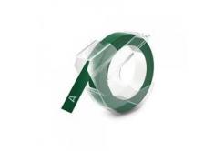 Dymo S0898160, 9mm x 3m, fehér nyomtatás / zöld alapon, kompatibilis szalag