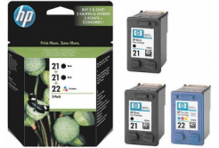 HP č.21, č.22 SD400AE dualpack fekete/színes (black/color) eredeti tintapatron