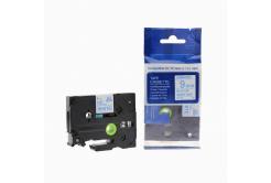 Brother TZ-223 / TZe-223, 9mm x 8m, kék nyomtatás / fehér alapon, kompatibilis szalag