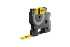 Dymo 18432, 12mm x 5, 5m fekete nyomtatás / sárga alapon, vinyl, kompatibilis szalag
