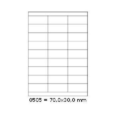 Öntapadós címkék 70 x 30 mm, 27 db / A4, 100 lap
