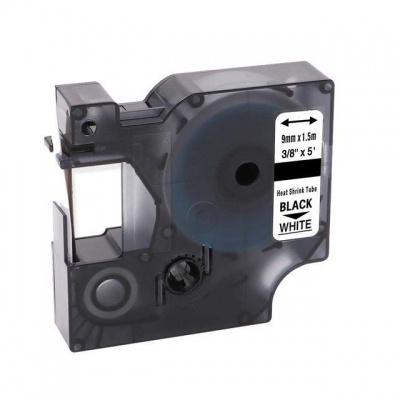Dymo 18053, S0718280, 9mm x 1, 5m fekete nyomtatás / fehér alapon, kompatibilis szalag