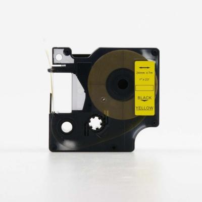 Dymo 53718, S0720980, 24mm x 7m, fekete nyomtatás / sárga alapon, kompatibilis szalag