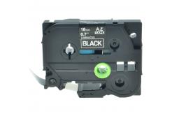 Brother TZ-S345/TZe-S345 18mm x 8m extr.adh. fehér nyomtatás/fekete alapon, kompatibilis szalag