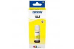 Epson eredeti tintapatron C13T00S44A, 103, yellow, 65ml, Epson EcoTank L3151, L3150, L3111, L3110