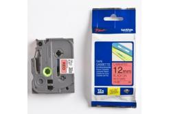Brother TZ-431 / TZe-431, 12mm x 8m, fekete nyomtatás / piros alapon, eredeti szalag