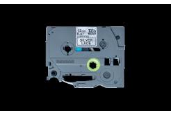 Brother TZ-MPSL31 / TZe-MPSL31, 12mm x 4m, fekete nyomtatás / ezüst alapon, eredeti szalag