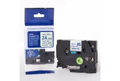 Brother TZe-FA5, 24mm x 3m, kék nyomtatás / fehér alapon, vasalható, kompatibilis szalag
