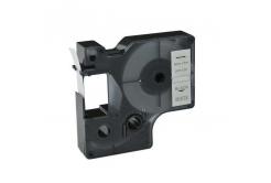 Dymo 40913, S0720680 / 41913, 9mm x 7m fekete nyomtatás / fehér alapon, kompatibilis szalag