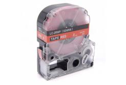 Epson LC-SD6RW, 6mm x 8m, fehér nyomtatás / piros alapon, utángyártott szalag