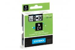 Dymo D1 45018, S0720580, 12mm x 7m, fekete nyomtatás / sárga alapon, eredeti szalag