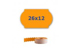 Cenové címkék do kleští, 26mm x 12mm, 900 db, signální oranžové